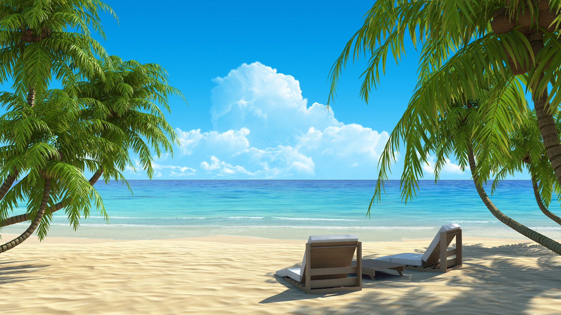 Hd Tropical Island Beach Paradise Wallpapers And Backgrounds: Paradise Dream Beach - 1920x1080 - 16:9