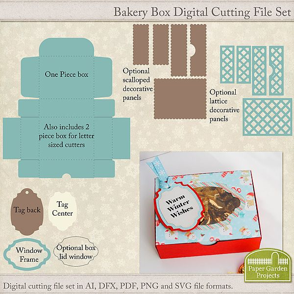 Decorative Food Boxes Interesting Digital Cutting File To Craft A Cute Bakery Box Style Gift Box Review