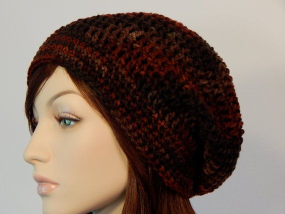 Teen Adult Size Earth Tones Slouch Hat by MarlowsGiftCottage