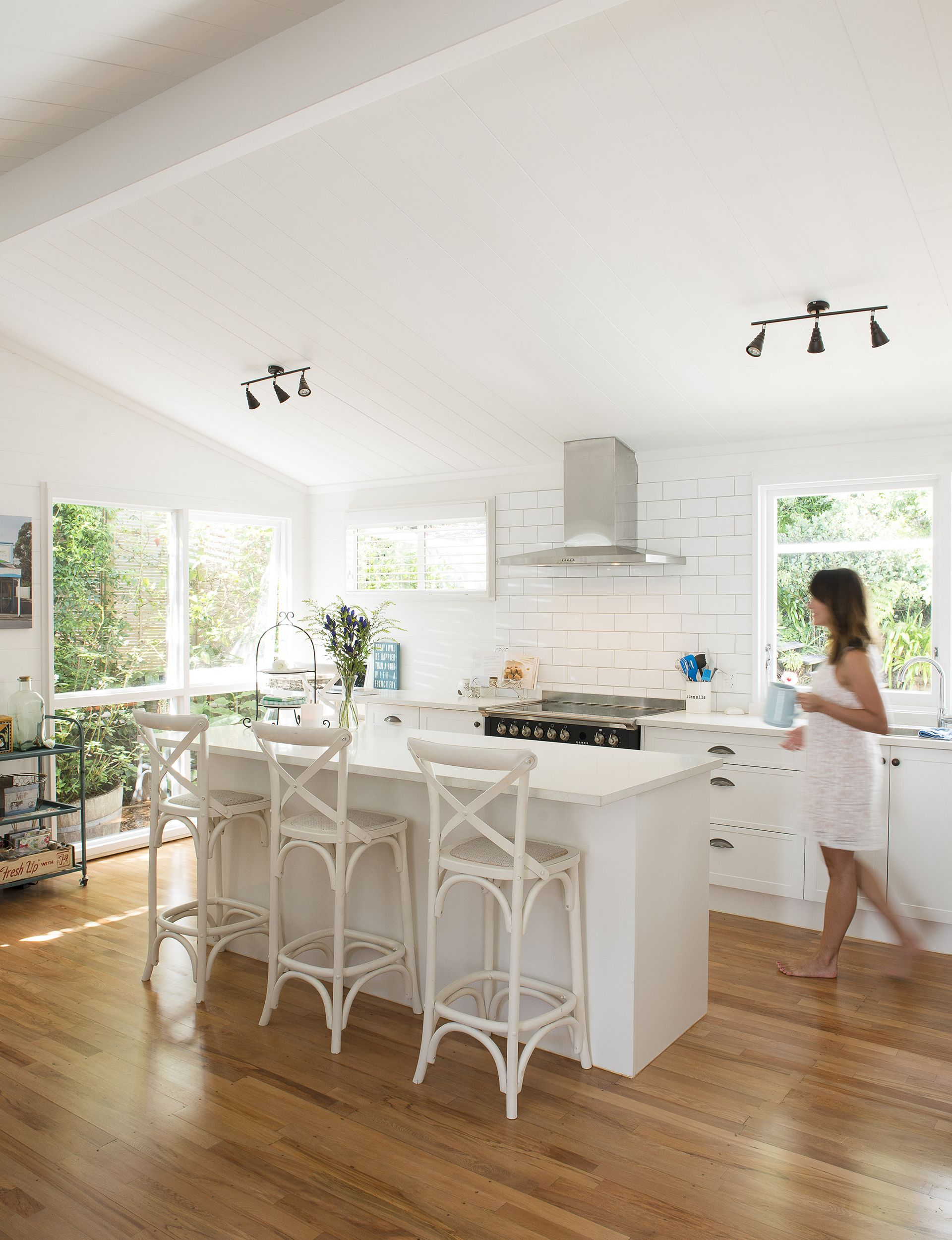 An original two-bedroom Lockwood home gets the white paint treatment ...