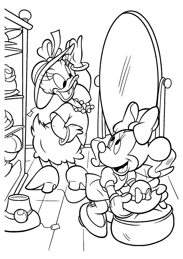 Superb Minnie Mouse And Daisy Duck Coloring Pages 0 Minnie Mouse and Daisy