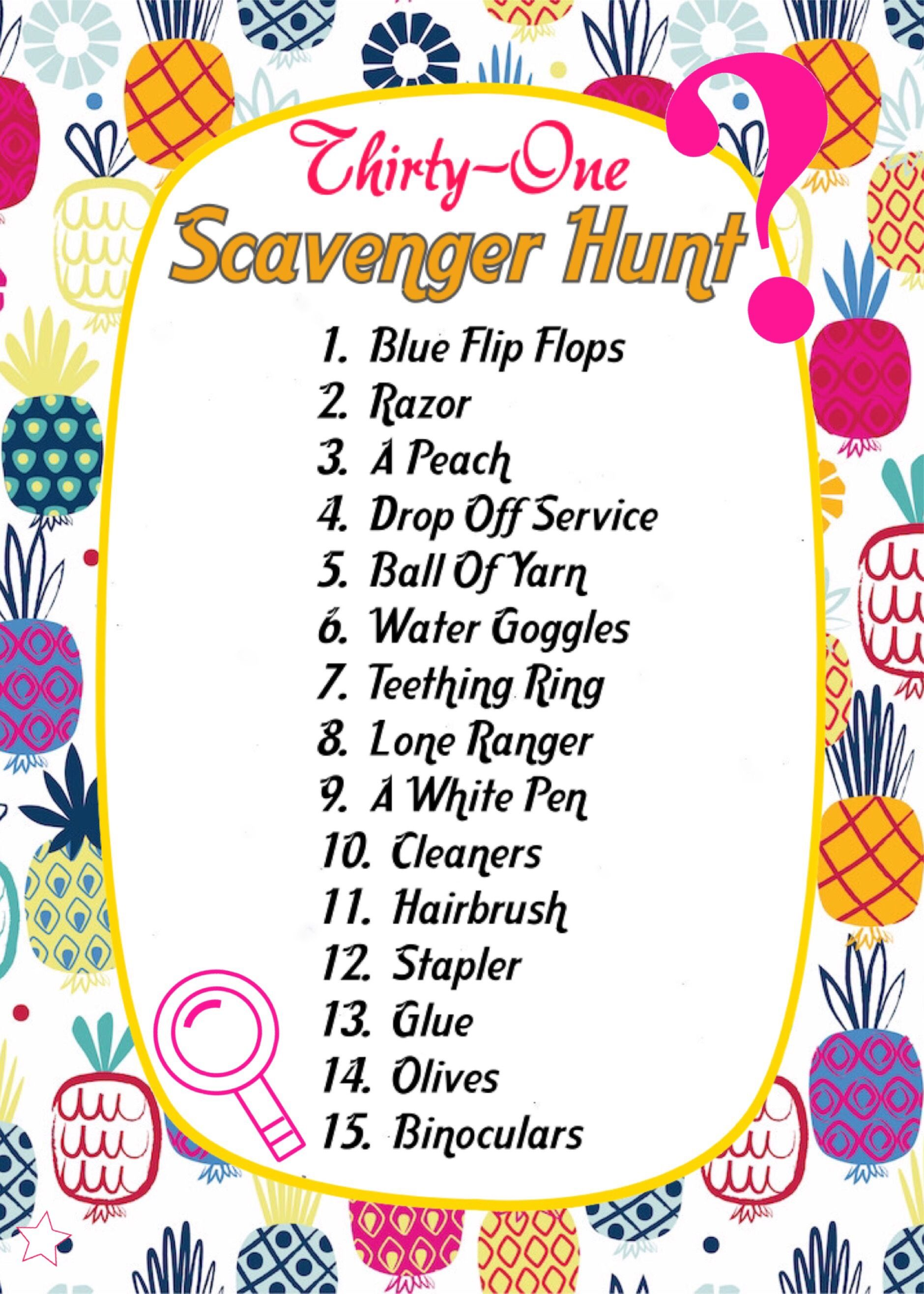 ThirtyOne spring/summer 2018 catalogue Scavenger hunt
