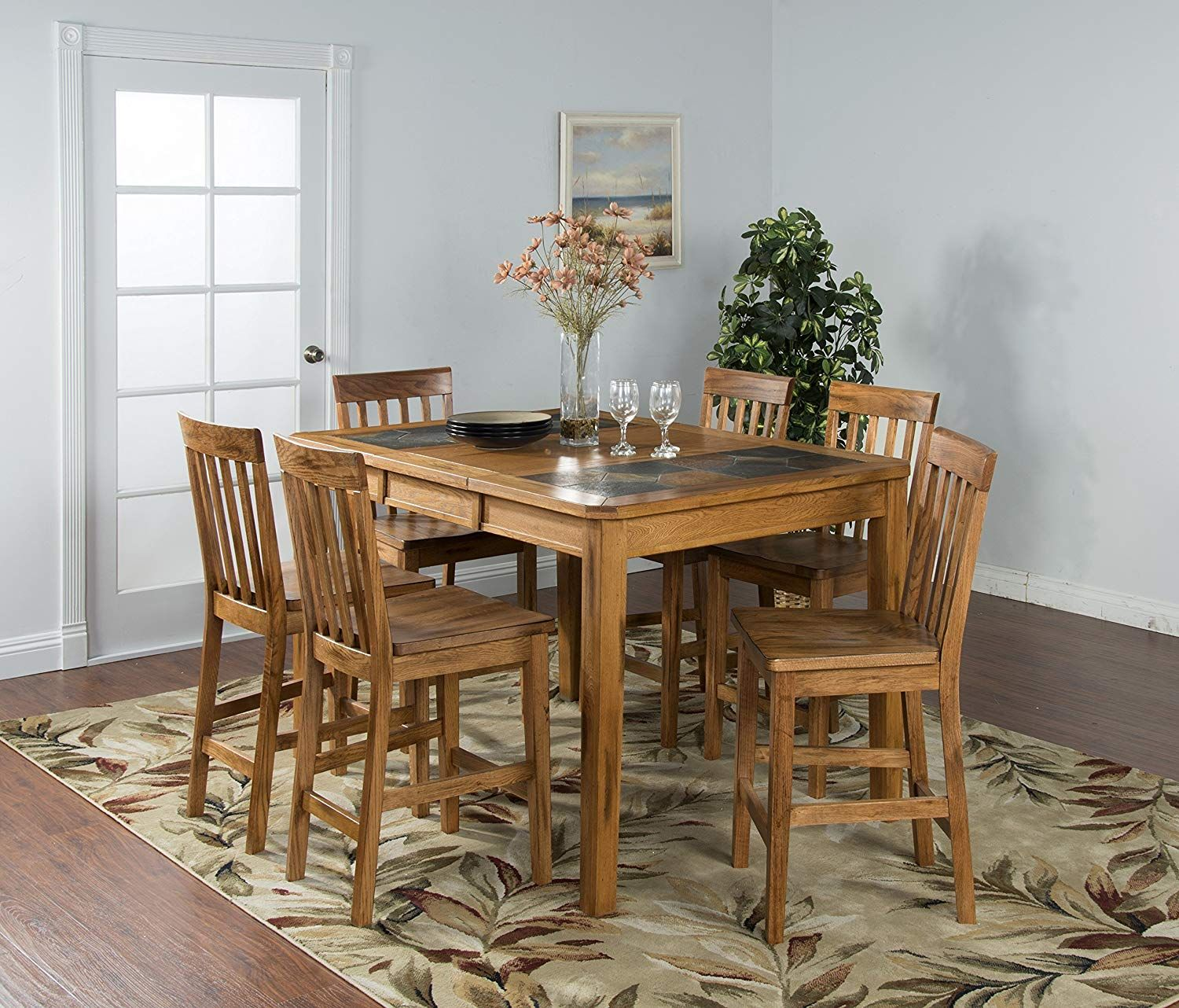 Sunny Designs Sedona 42 Extendable Slate Dining Table In Rustic