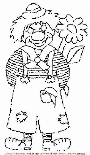 clown 185 kostenlose malvorlagen und ausmalbilder auf www