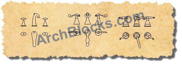 Bathroom Faucet CAD Symbols | CAD blocks | Pinterest | AutoCAD, Cad ...