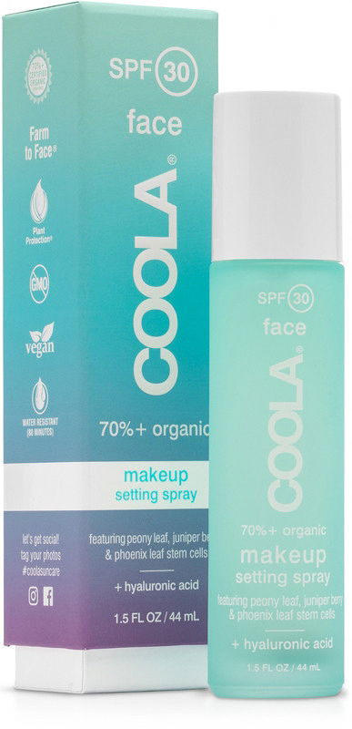 Coola's SPF 30 Organic Matte Makeup Setting Spray is a no