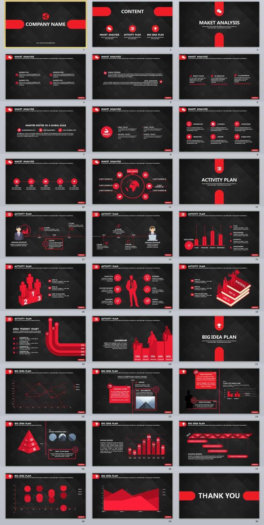 30 black business powerpoint template powerpoint presentation 30 red business powerpoint presentation template toneelgroepblik Choice Image