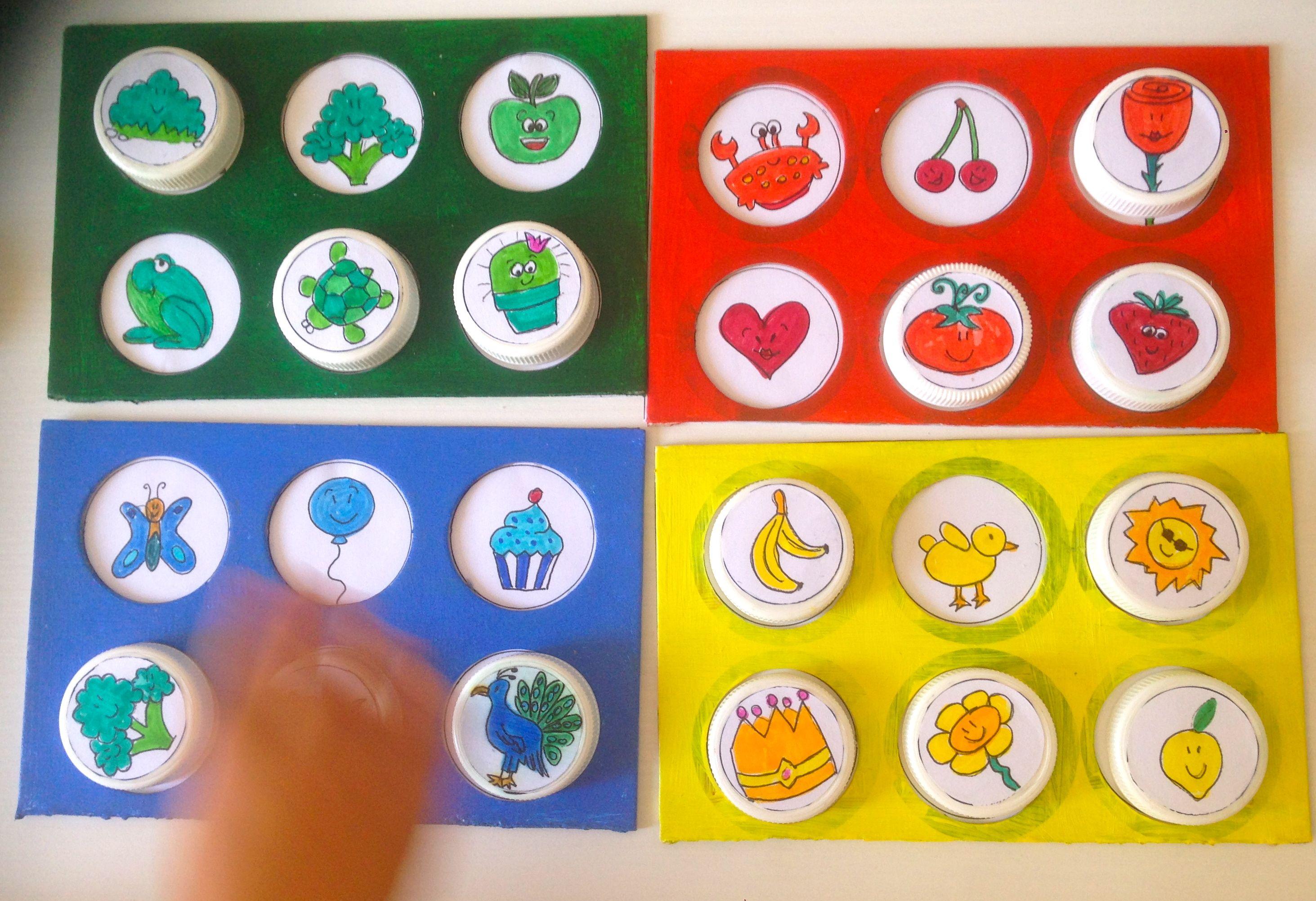 Tombola Bingo Dei Colori Realizzata Con Materiali Di Recupero E