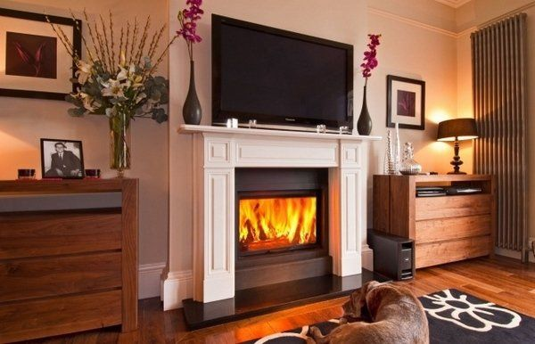 living room design ideas mounting a tv over a fireplace pros cons ...