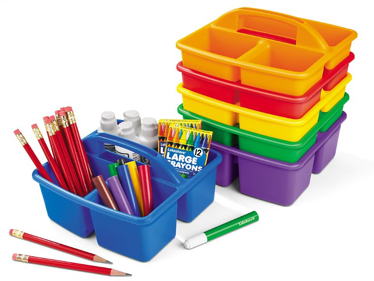 Classroom Supply Caddies 6 Color Set Store Everything From
