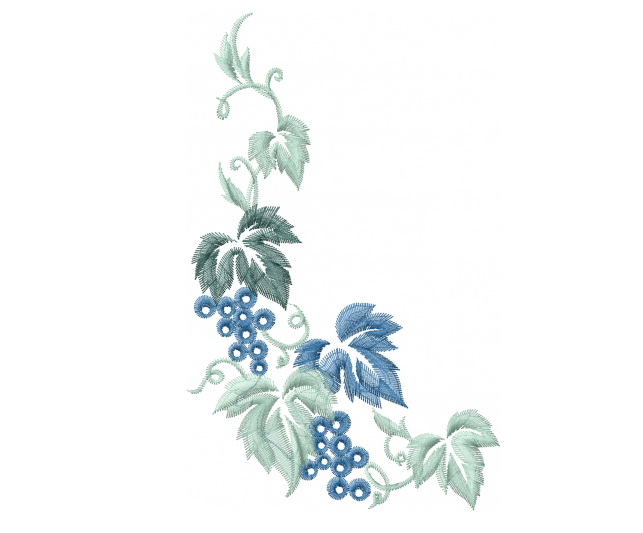 """This free embroidery design is called """"grape vine corner"""