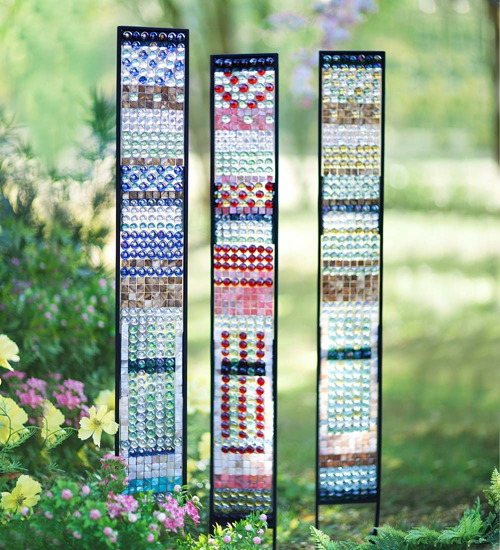 Jeweled Glass Garden Panes | Decorative Garden Accents | P&H ...