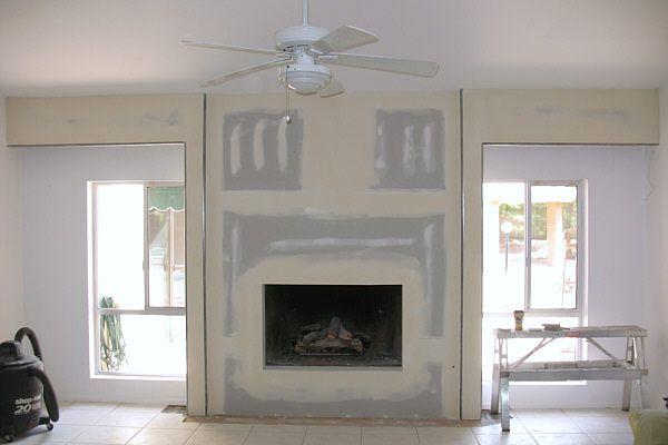 April 2008 Remodeling For Geeks Update Brick Fireplace Fireplace Living Room Makeover