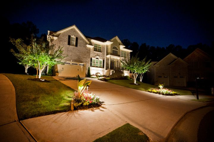 A Beautiful Shot Of Landscape Lighting In Highlighting
