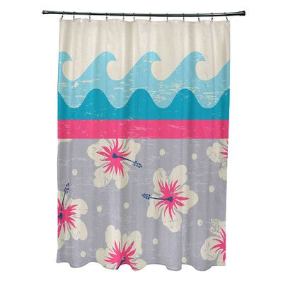 Bay Isle Home Pembrook Polyester Floral Shower Curtain Color: Pink