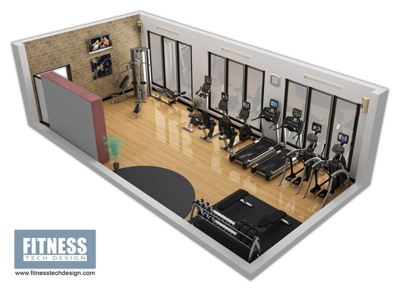 3d Gym Design 3d Fitness Layout Portfolio Fitness Tech Design Home Gym Design Gym Design Gym Design Interior