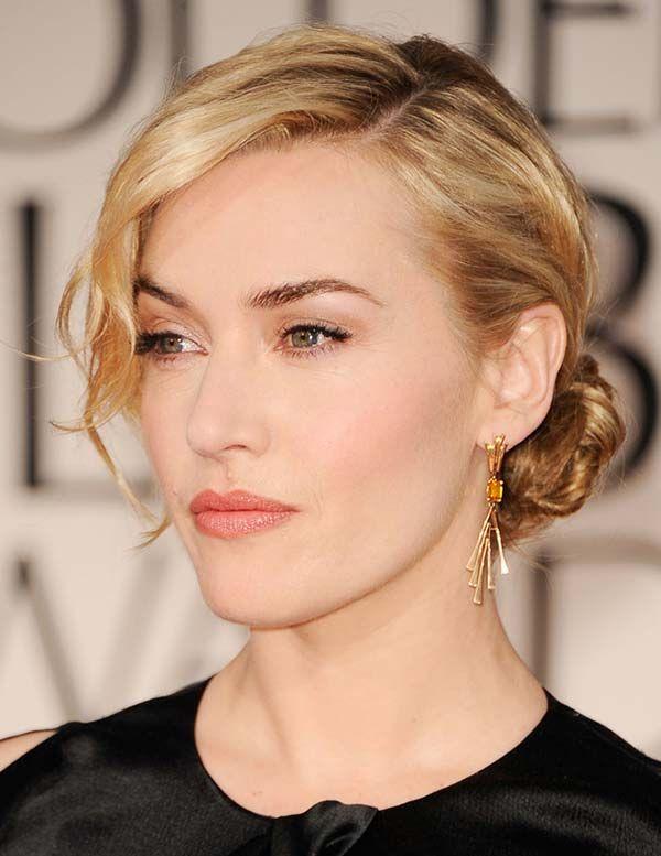15 Refined Bridal Hairstyles Inspired By Celebrities: Kate Winslet's Updo  #bridalhairstyles #bridalhair #weddinghairstyles