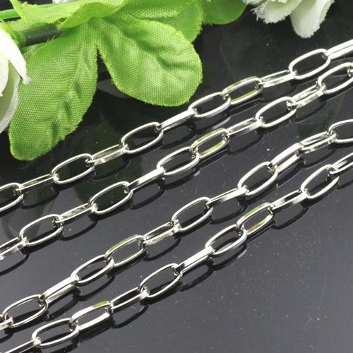 5m White K Silver Chain/Iron Oval Chain/Link Chain/for Necklace/for Bracelet