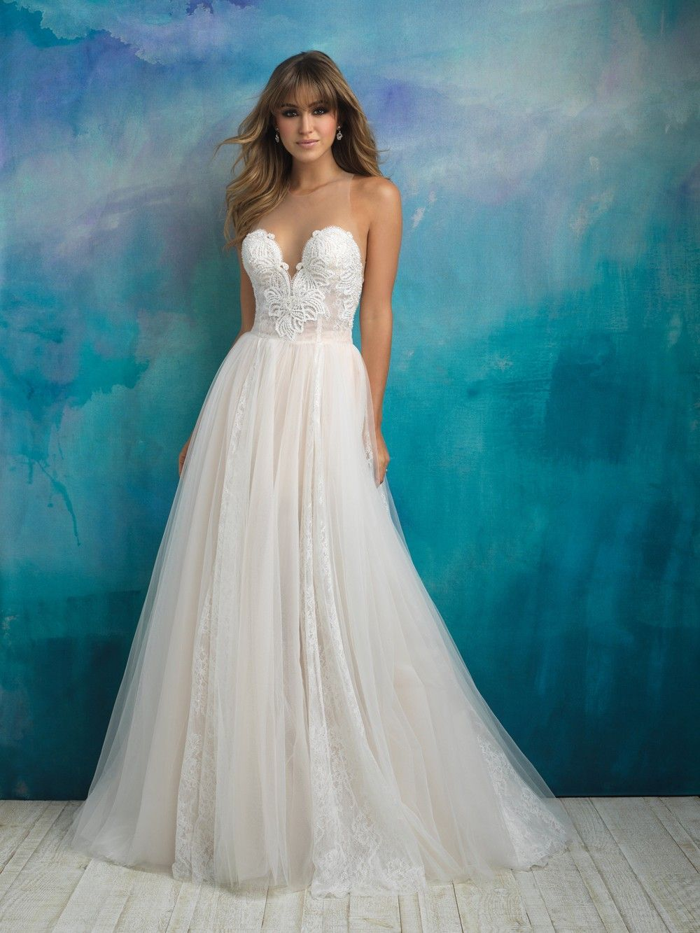 really pretty as an overskirt. Allure Bridals - Dress Style 9505 ...
