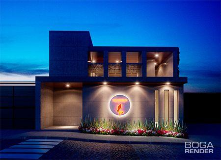 Render Fachada Desarrollo Residencial Calandrias #proyectoarquitectónico #render #modelado #Queretaro #México #BogaRender
