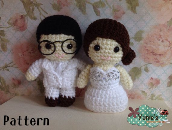 Crochet Pattern Doll : Wedding amigurumi Daisuki Wedding by Yunie's #Crochet #amigurumi #wedding