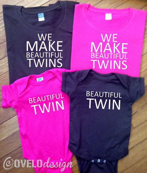 00650e3a4 We Make Beautiful Twins Mommy Daddy and Twins set Women s by OVELO ...