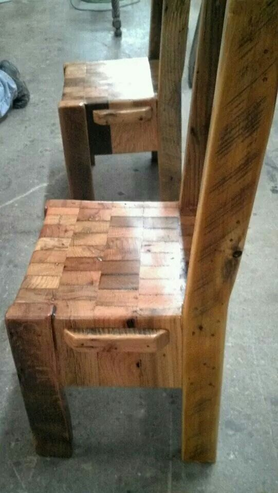 Million Dollar Butcher Block Chairs! They Donu0027t Cost A Million But They Look