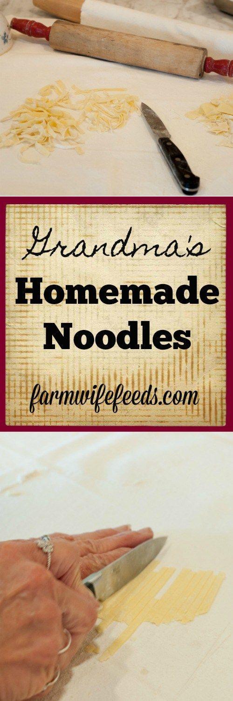 grandmas homemade noodles from farmwife feeds egg noodles