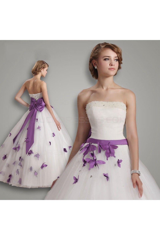 Ball Gown Strapless Purple White Wedding Dresses Bridal Gowns 3030192 Ball Gown Wedding Dress Purple Wedding Dress Gown Wedding Dress [ 1500 x 1000 Pixel ]