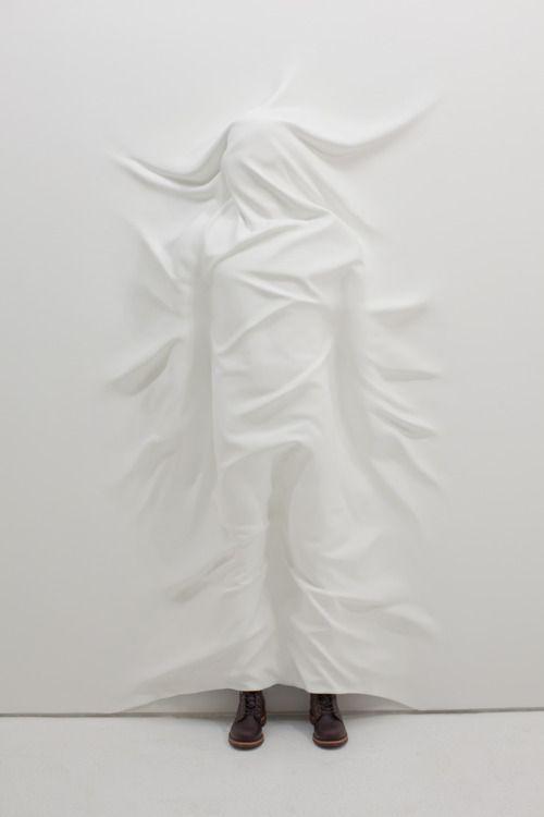 2headedsnake:  danielarsham.com Daniel Arsham, Hiding Figure, 2012