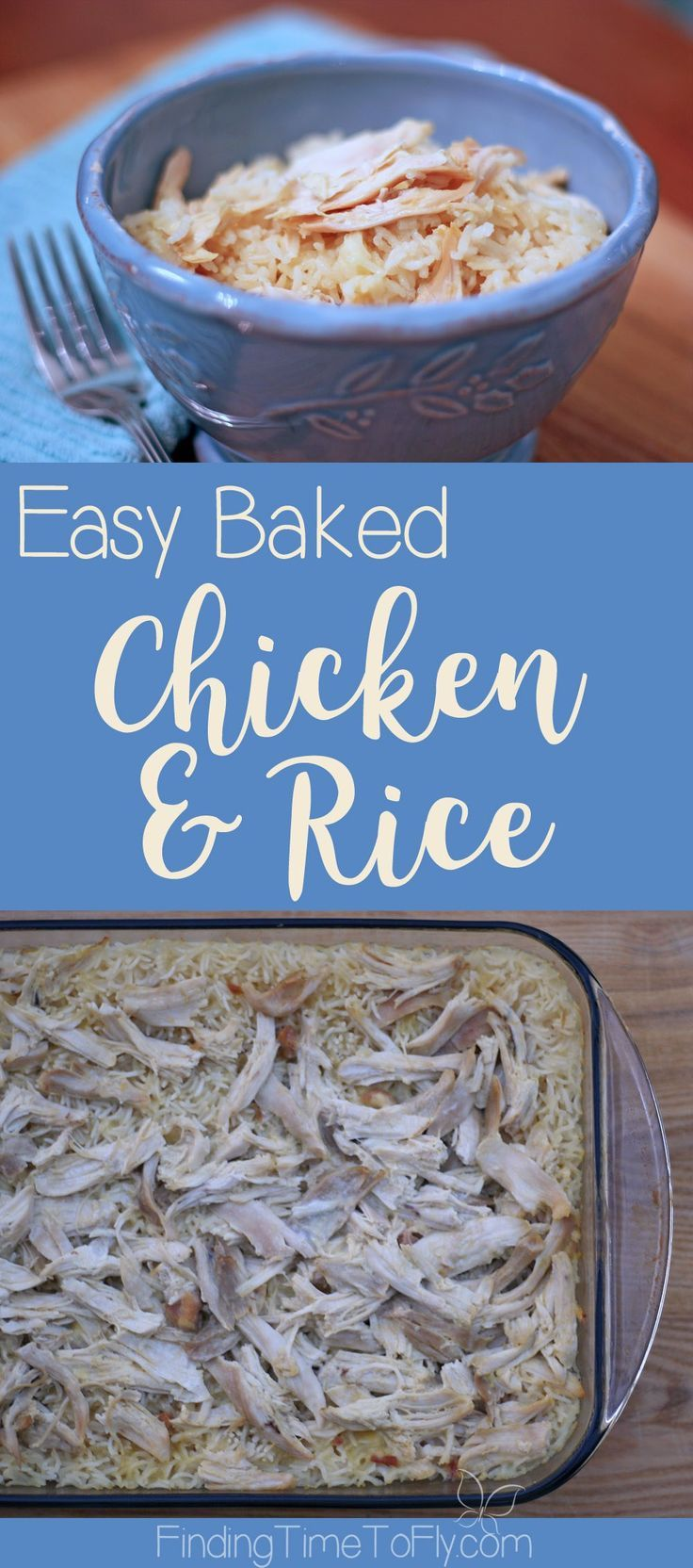 Baked chicken and rice recipe potluck meals easy weeknight easiest ever baked chicken and rice is perfect for an easy weeknight dinner potluck forumfinder Gallery