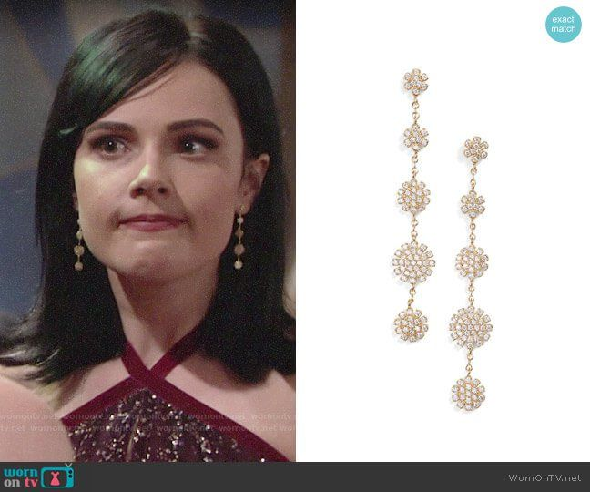 4e7b395869e Tessa s earrings at Sharon s wedding on The Young and the Restless. Outfit  Details  https