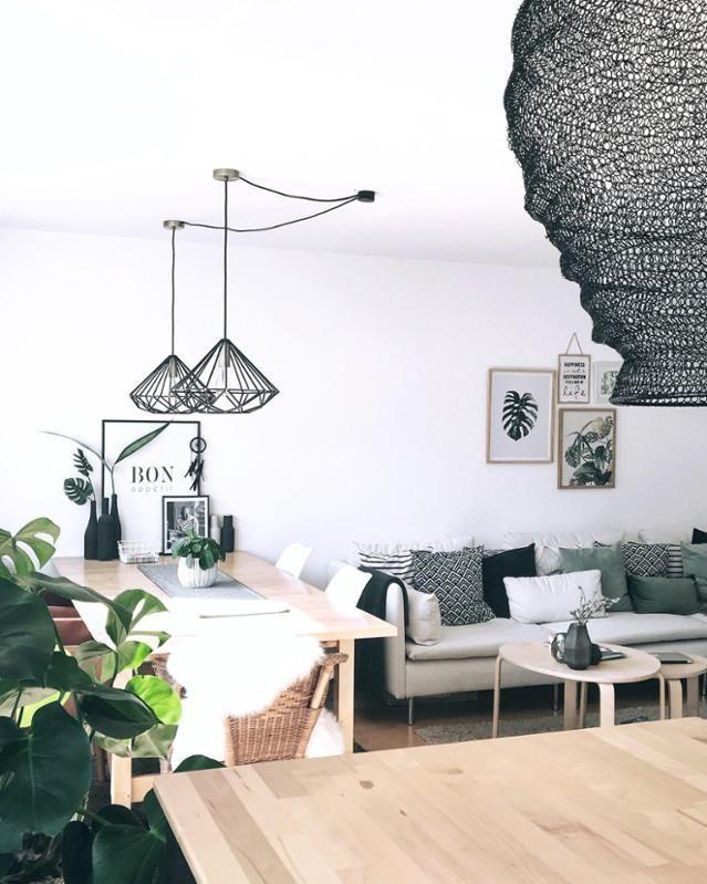 Wohnzimmer und Esszimmer in einem! #esszimmer #wohnzimmer #lampen - esszimmer im wohnzimmer
