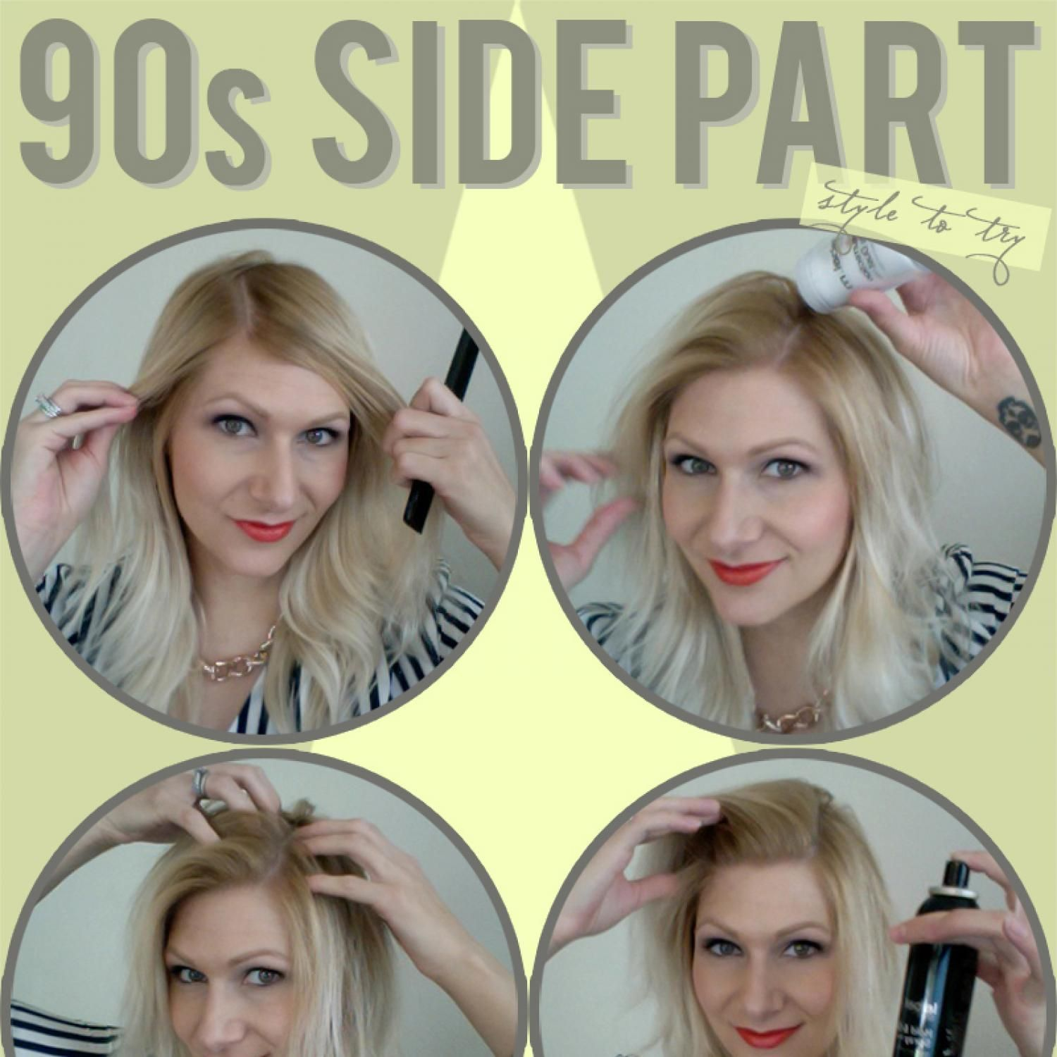 Rock It Pulling Off the '90s Side Part 90s hairstyles