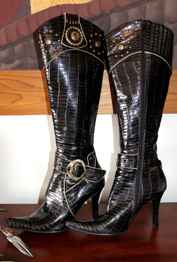 BAD ASS ROCKER Alannah Miles Studded Bejeweled by BadTigerDesigns BLACK FRIDAY SALE ON NOW!! $30 OFF!! GET YOUR ROCKER CHICK ON, LADIES!!! ;-) XXX