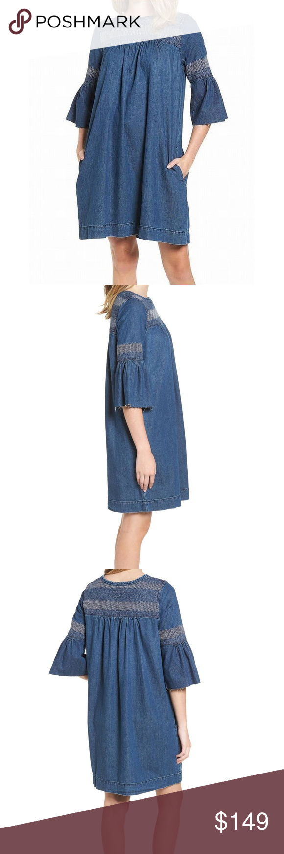 17a19011b4c Current Elliott Womens Denim Shift Dress NWT 2 Current Elliott Womens Denim  Shift Dress