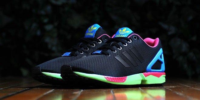 adidas zx flux blue green