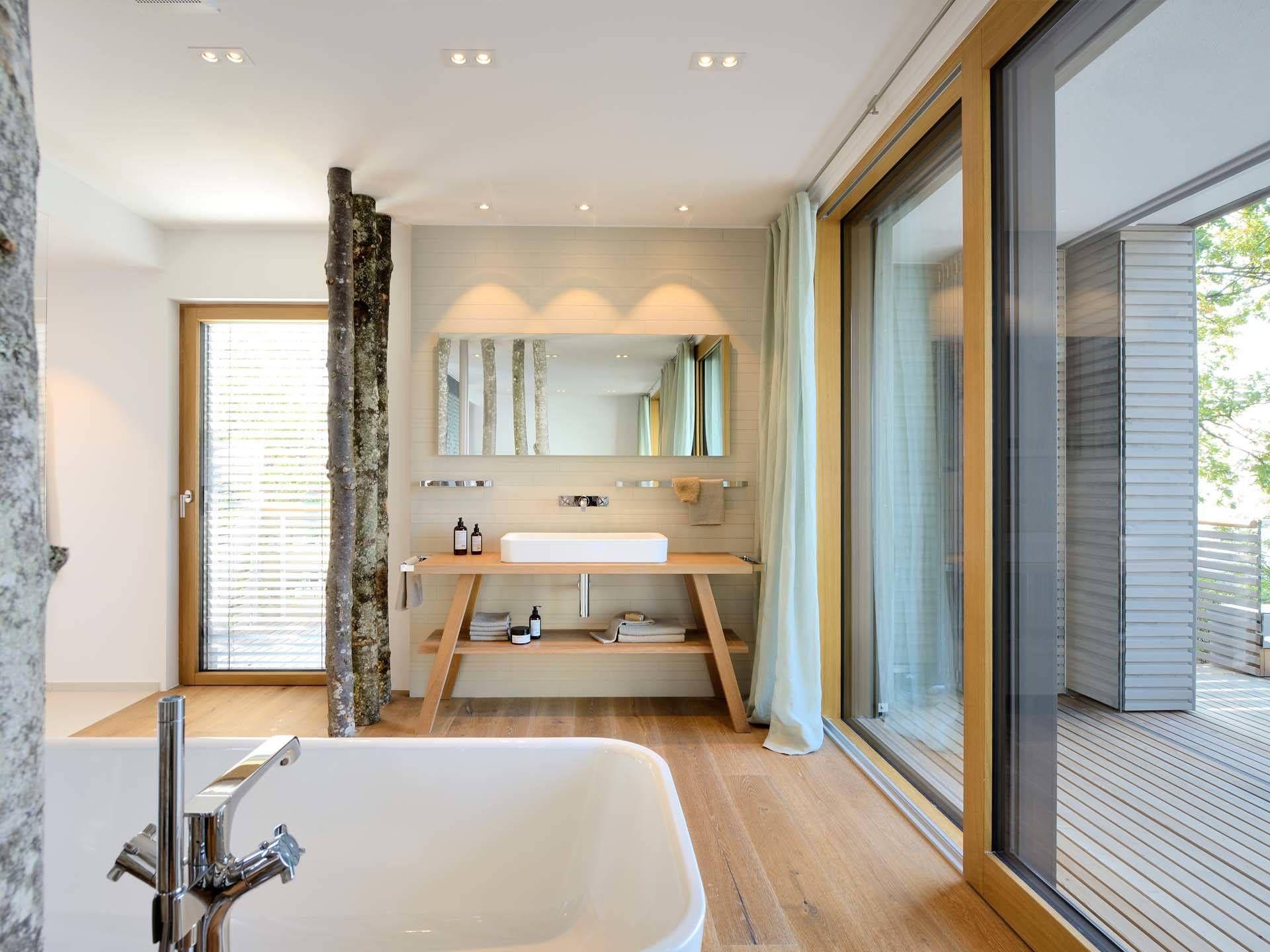 Badezimmer im Haus am See von Baufritz • Mit Musterhaus.net ...