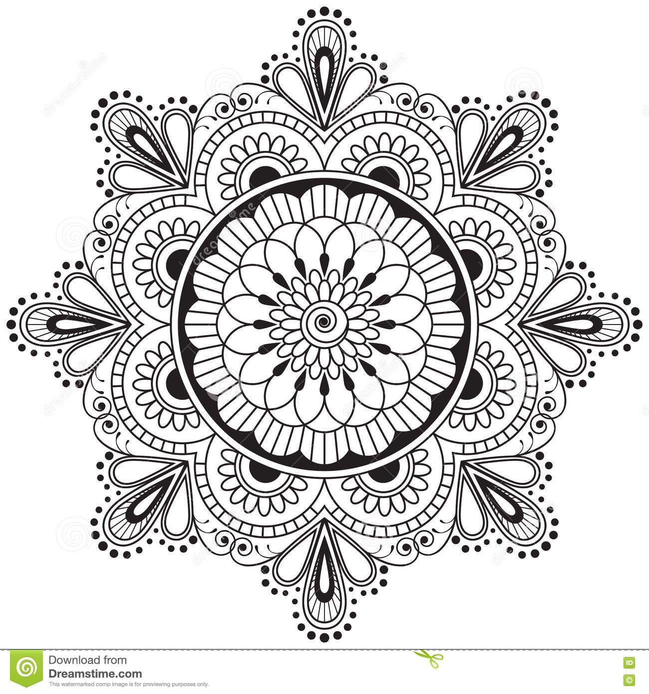 Mandala Henna Designs: Mandala Coloring Pages, Mandala Drawing, Mandala