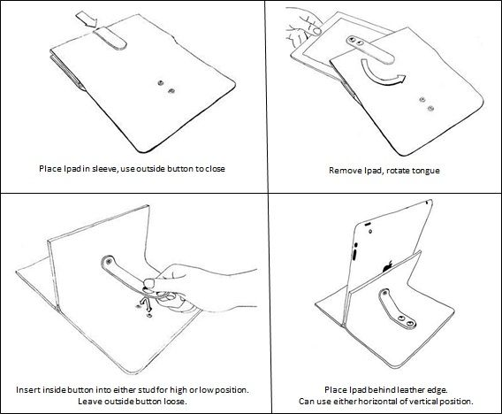New instruction manual for the Ipad sleeve. By Asher