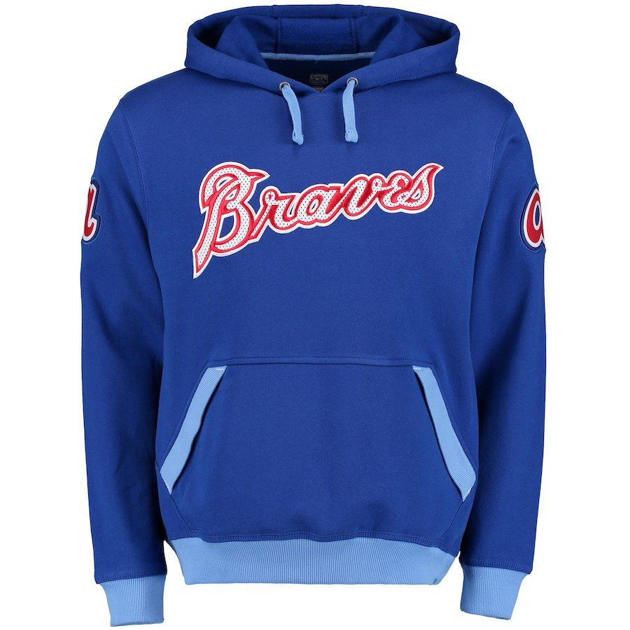 Atlanta Braves Majestic Reach Forever Cooperstown Collection Pullover Hoodie Royal Hoodies Pullover Hoodie Atlanta Braves
