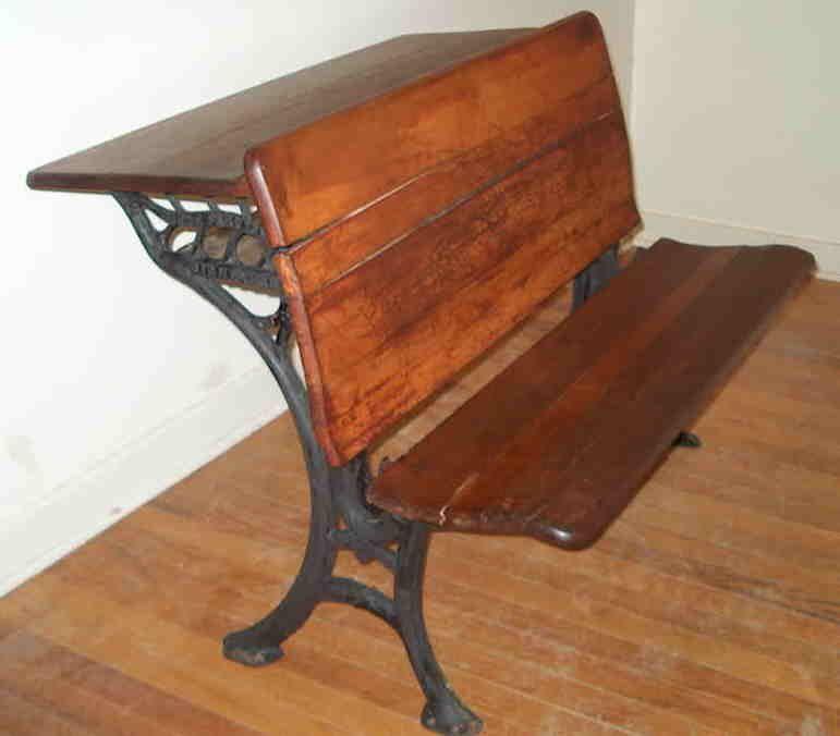 Vintage Double Seater School Desk Back To School