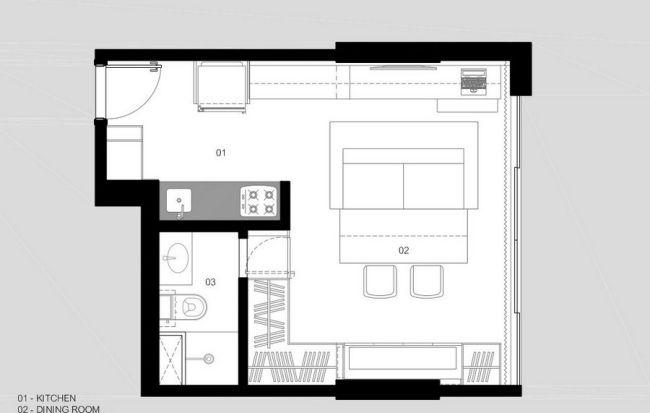 Einzimmerwohnung Einrichten Kluges Raumspar Konzept In Brasilien