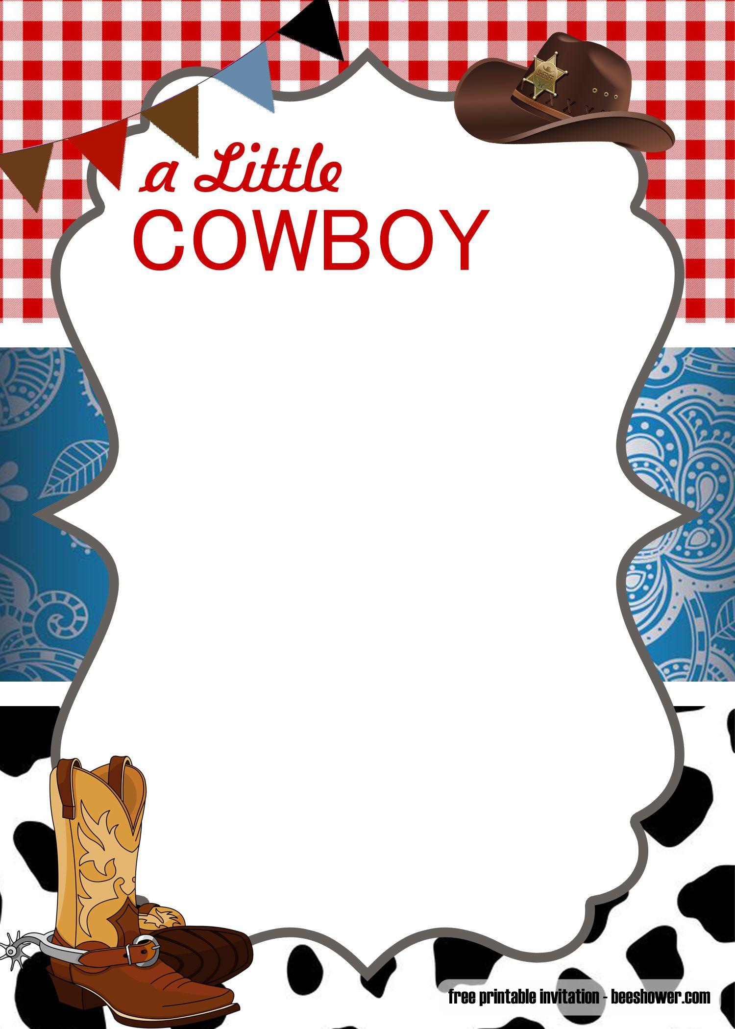 Cool Free Cowboy Baby Shower Invitation Templates Plantillas De Invitaciones A Fiestas Adornos Vaqueros Para Fiesta Invitaciones Vaqueras