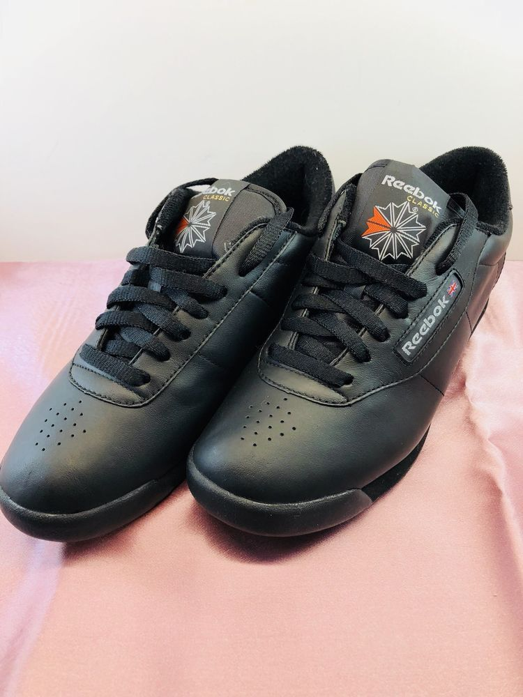 e7d15e0c84ff5 NEW Reebok Princess Classic Black Leather Walking Shoes ~women s 8.5 ...