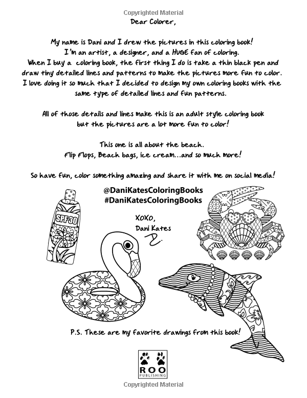 Amazon Beach Party Coloring Book 24 Page 9781533327567