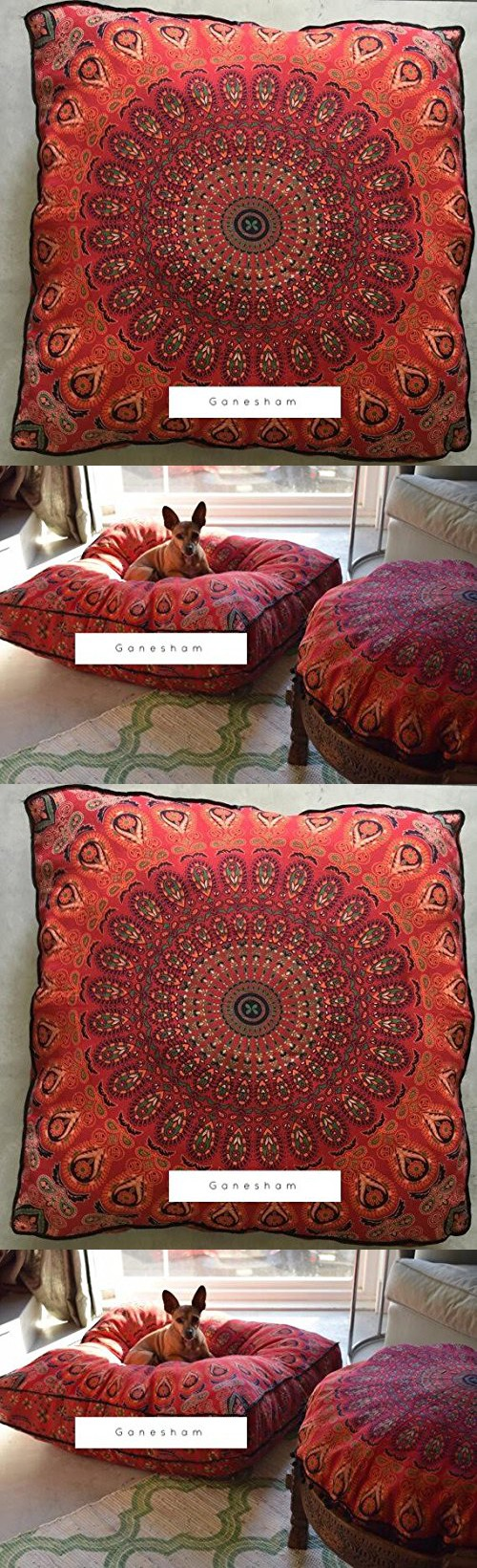 Ganesham Handicraft - Huge mandala tapestry dog bed, mandala ...