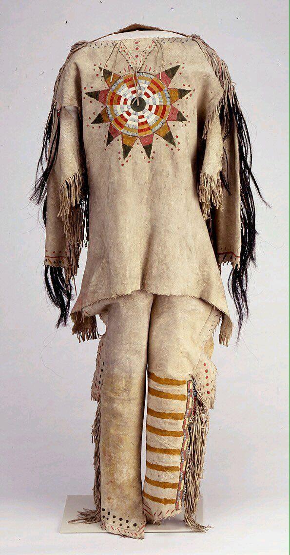 Sioux man clothes - 1895 | Native American Art | Native
