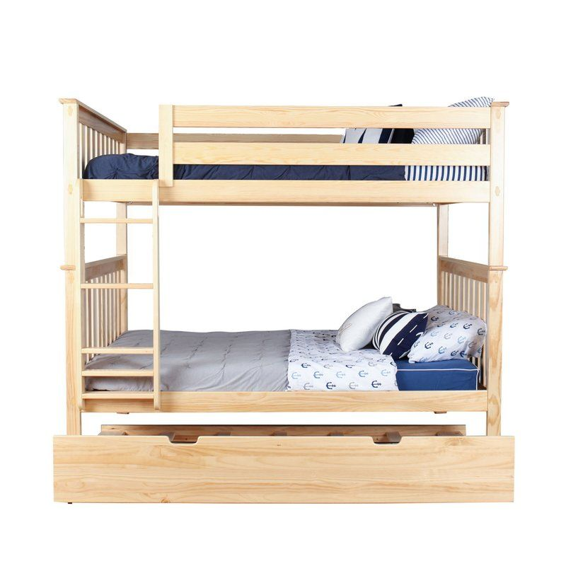 Solid Wood Bunk Bed With Trundle Bed Bunk Bed With Trundle Bunk