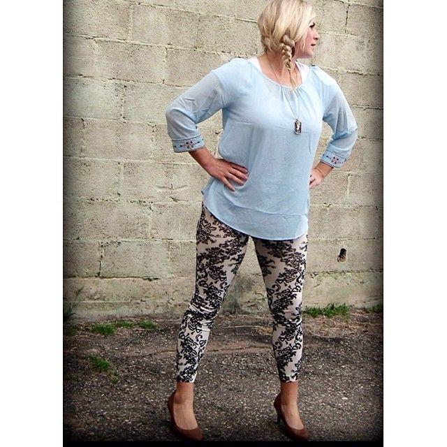 Damask print leggings $14 faith necklace $26. #ourlittlestoreboutique #utahboutiques #utahfashions #ootd #wiw #fashionable #feelgood #ordernow #weship 801.763.2700 #leaveemail&we'llpaypalinvoiceyou #outfit #details #accesorize @ourlittlestoreboutique #utahfashion #tellafriend #americanfork #utah #shopsmall #beyou